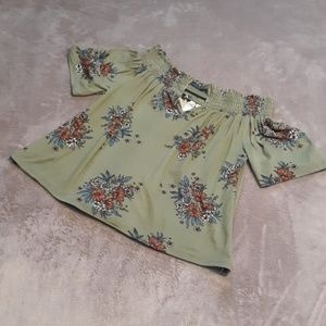 Alya by Francesca's womens size S off shoulder top